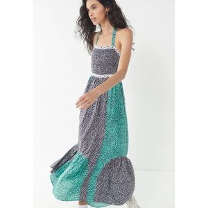 Urban Outfitters Lychee Mixed Print Maxi Dress
